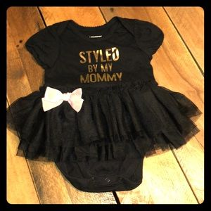 """Styled by my Mommy"" onesie tulle NWOT"